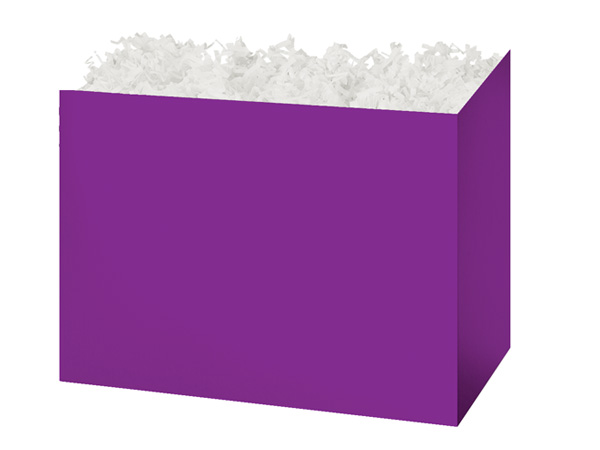 Medium Solid Purple Basket Boxes 8-1/4x4-3/4x6-1/4""