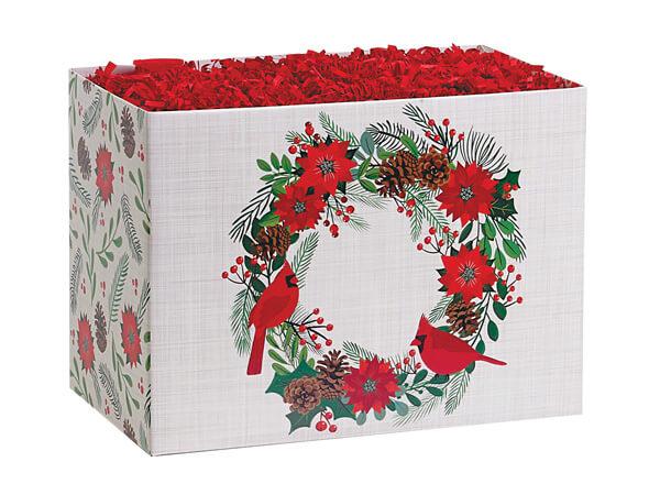 Poinsettia Wreath Basket Boxes