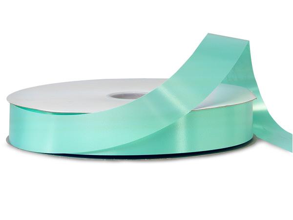 "Aqua Blue Poly Ribbon, 1-1/4""x250 yards"