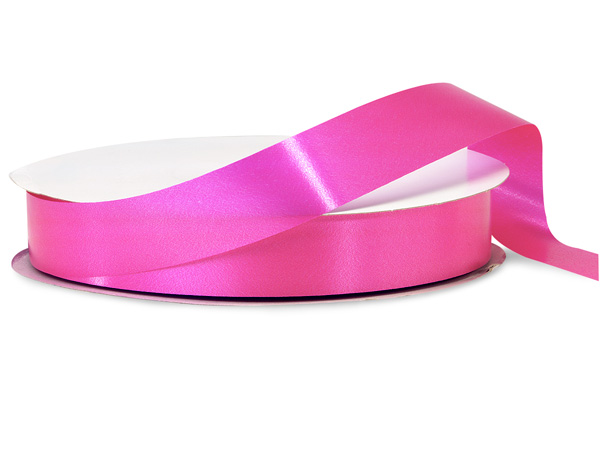 "Beauty Pink Poly Ribbon, 1-1/4""x250 yards"
