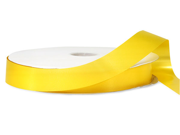 "Daffodil Yellow Poly Ribbon, 1-1/4""x250 yards"