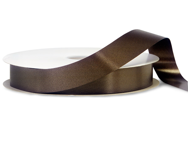 "Dark Chocolate Brown Poly Ribbon, 1-1/4""x250 yards"