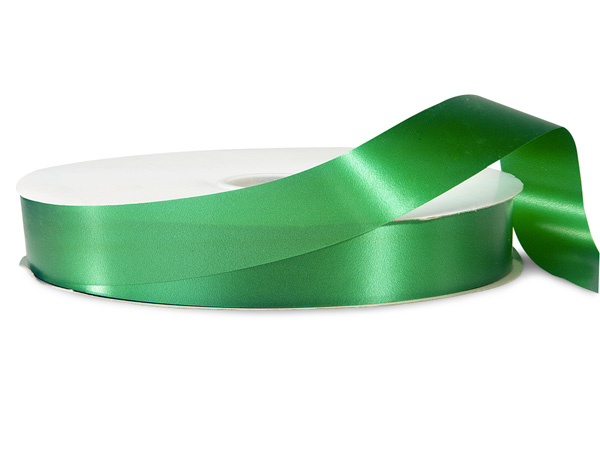 "Emerald Green Poly Ribbon, 1-1/4""x250 yards"