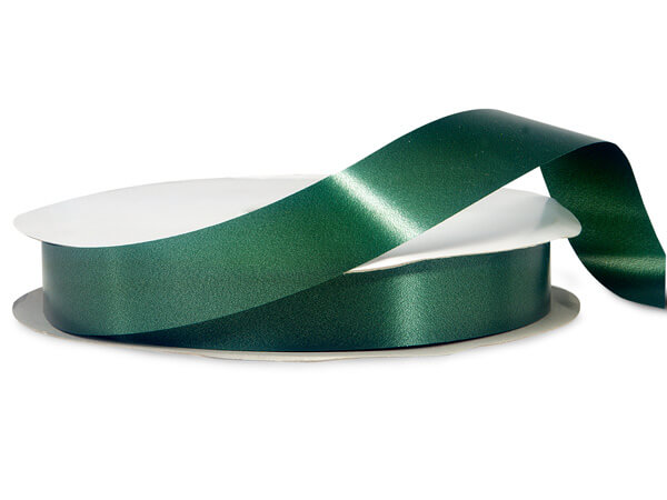 "Hunter Green Poly Ribbon, 1-1/4""x250 yards"