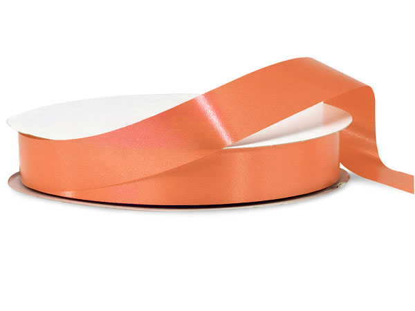 "Tropical Orange Poly Ribbon, 1-1/4""x250 yards"