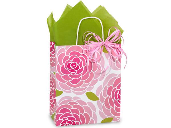 """*Cub Rose Blossoms Paper Bags 250 8x4-3/4x10-1/4"""""""