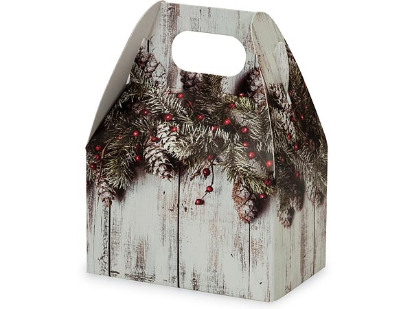 "Rustic Berries Mini Gable Boxes 4x2.5x2.5"", 6 Pack"