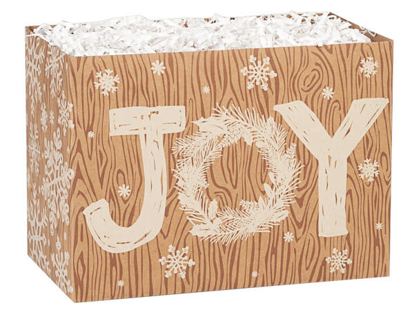 Rustic Christmas Joy Basket Boxes