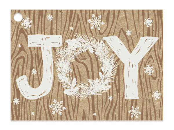 Rustic Christmas Joy Gift Card
