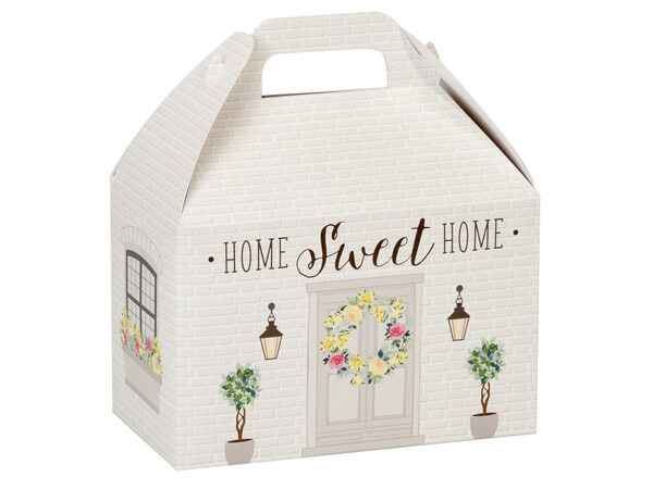 """Rustic Cottage Gable Boxes, 8-1/2 x 4-3/4 x 5-1/2"""", Pack 6"""