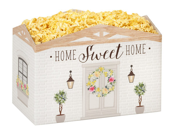 """Rustic Cottage Basket Boxes, Large 10.25x6x7.5"""", 6 Pack"""
