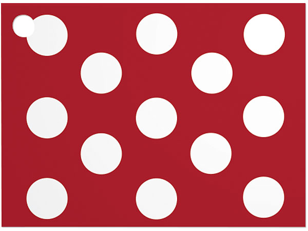 *Red & White Dots Theme Card 3-3/4 x 2-3/4""