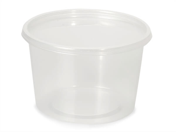 16oz Round Deli Container and Lid, 250 Count combo-pack