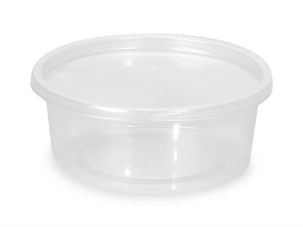 8oz Round Deli Container and Lid, 250 Count combo-pack