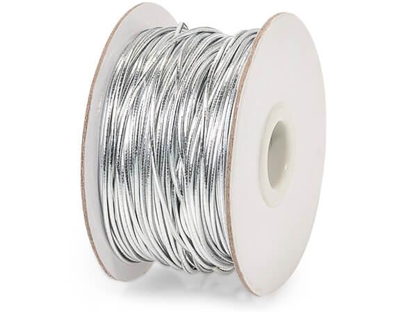 "Metallic Silver Stretch Cord, 1/16""x50 yards"