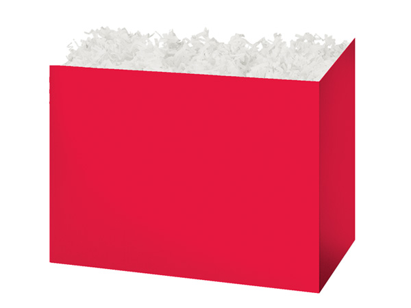 "Medium Solid Red Basket Boxes 8-1/4"" x 4-3/4"" x 6-1/4"""