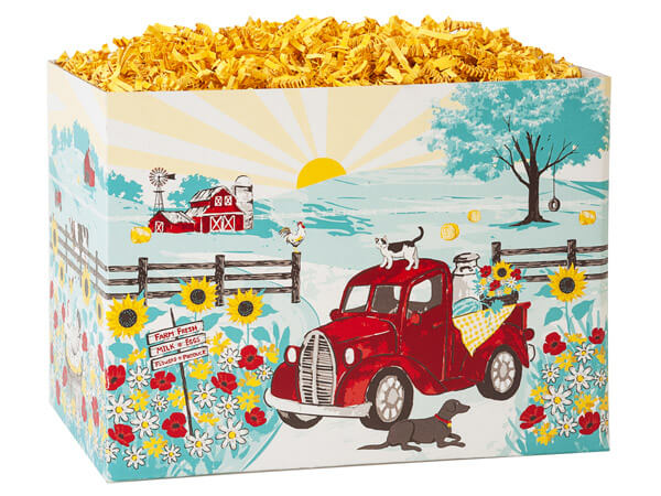 Red Farm Truck Basket Boxes