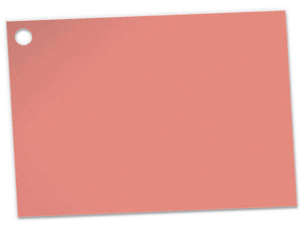 Solid Metallic Rose Gold Theme Gift Cards 3-3/4x2-3/4""