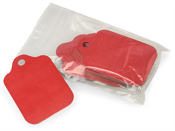 """Red Resale Gift Tags 2-1/2"""" x 3-3/4"""""""