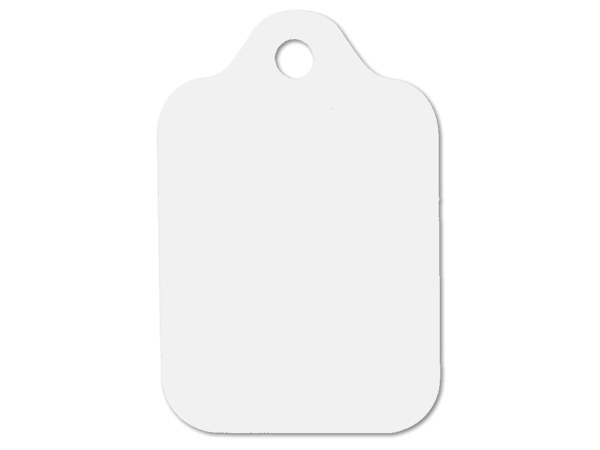 """White Resale Gift Tags 2-1/2"""" x 3-3/4"""""""