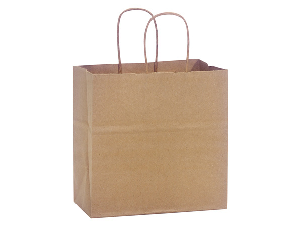 "100% Recycled Kraft Paper Bags Junior 8x5x8"", 250 Pack"