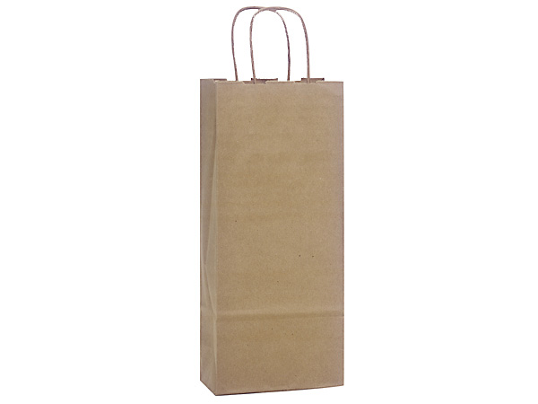 "100% Recycled Kraft Paper Bags Wine 5.5x3.25x13"", 250 Pack"