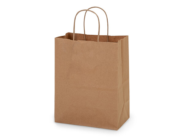 "100% Recycled Kraft Paper Bags Cub 8x4.75x10.25"", 25 Pack"