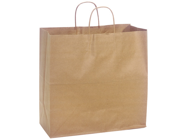 "100% Recycled Kraft Paper Bags Filly 13x7x13"", 25 Pack"