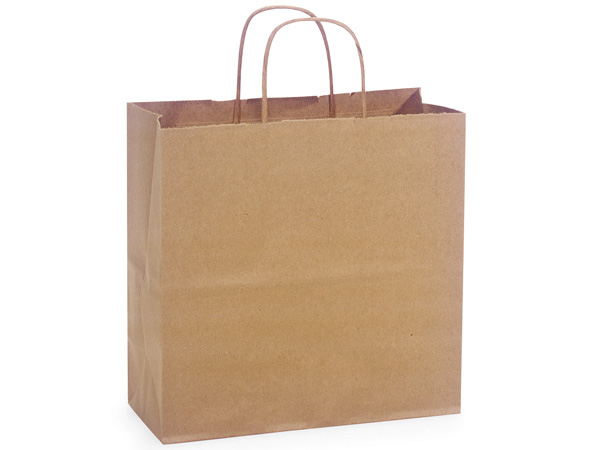 "100% Recycled Kraft Paper Bags Joey 10x5x10"", 25 Pack"