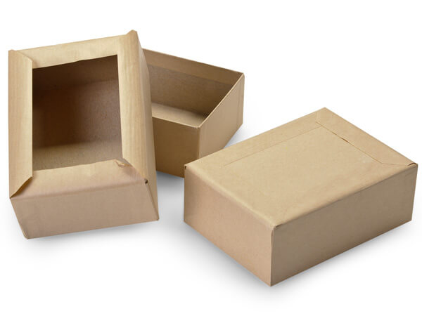 """Brown Kraft Mailing Boxes, Gummed Flaps, 5x3.5x2"""", 50 Pack"""