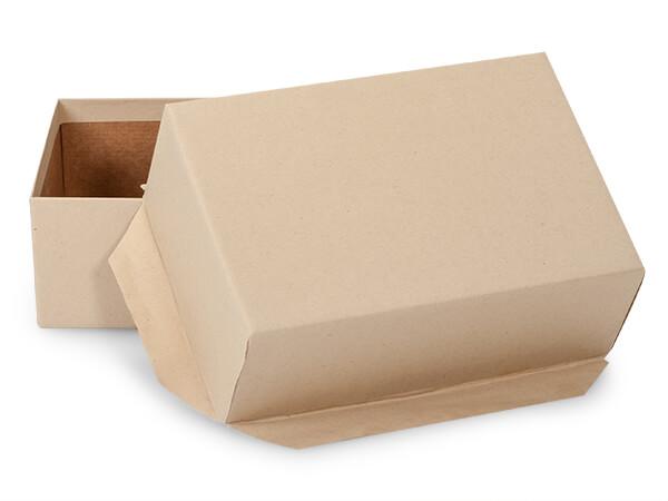 Brown Kraft Mailing Boxes, Gummed Flap, 7.5 x 5 x 2.75, 25 Pack