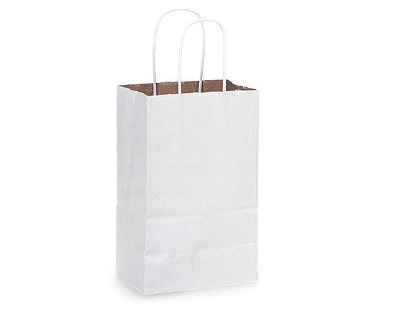 "Rose White Fusion Paper Bags 250 Pk 5-1/2x3-1/4x8-3/8"""