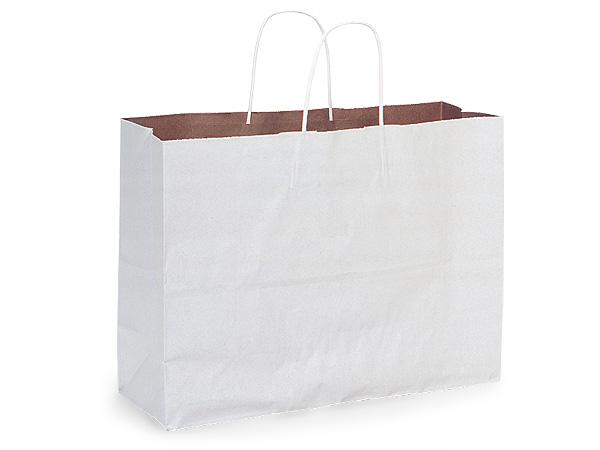 "Vogue White Fusion Paper Bags 250 Pk 16x6x12"""