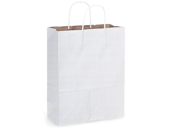 Carrier White Fusion Paper Bags 25 Pk 10x5x13""