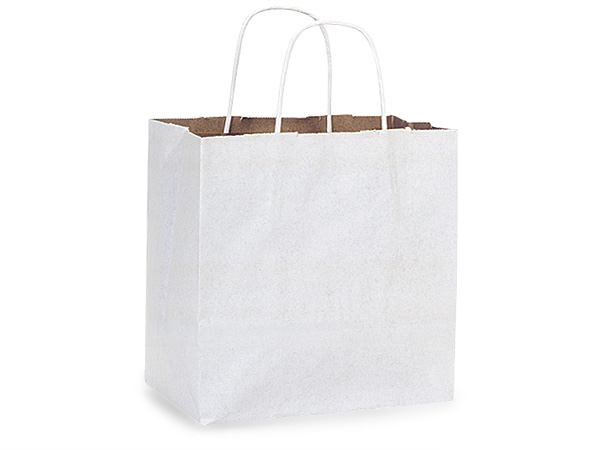 """White Fusion Paper Bags Junior 8x5x8"""", 25 Pack"""