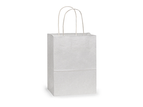 "Rose White Kraft Paper Bags 250 Pk 5-1/4x3-1/2x8-1/4"""