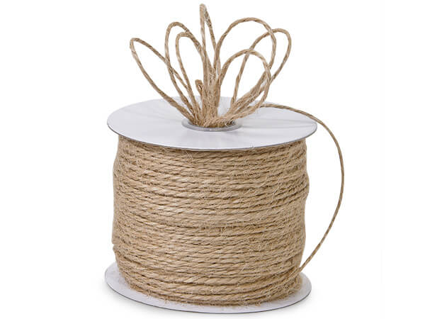 "Natural Brown Burlap Twine, 1/16""x100 yards"