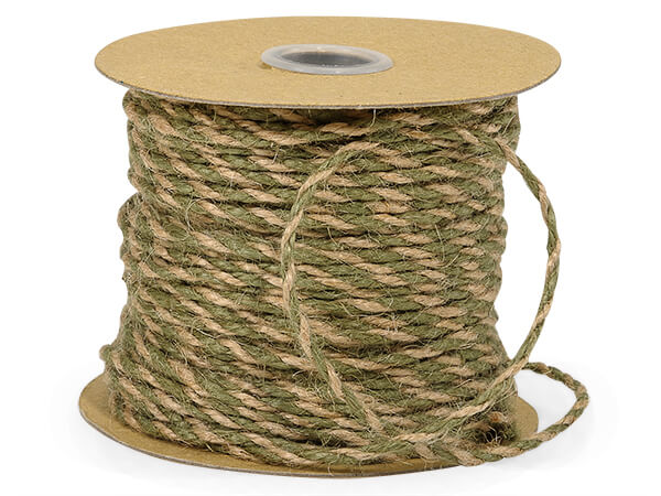 "Moss & Natural Duo Color Jute Twine 3-ply 1/8""x50 yds"