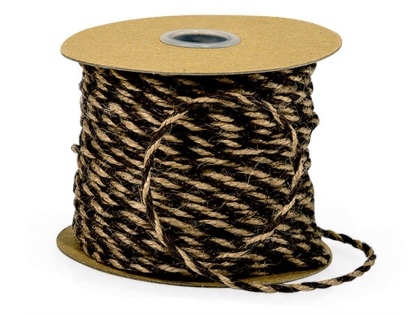 Black and Natural Jute Twine