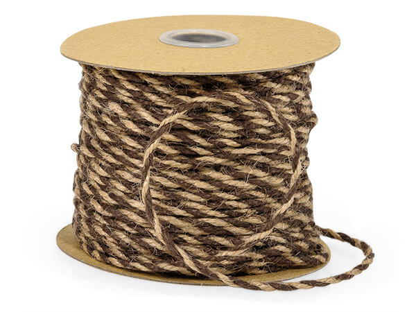 "Chocolate & Natural Duo Color Jute Twine 3-ply 1/8""x50 yds"