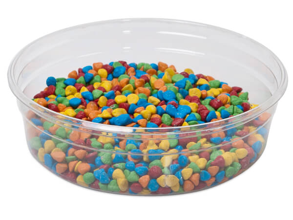 "8 oz Round Plastic Food Containers 4-1/2"" Dia.x1-1/4"" Deep"