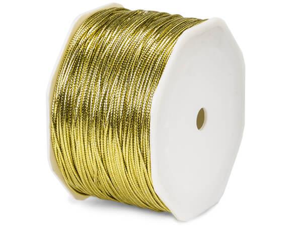 "Metallic Gold Tinsel Braided Cord, 1/16""x100 yards"