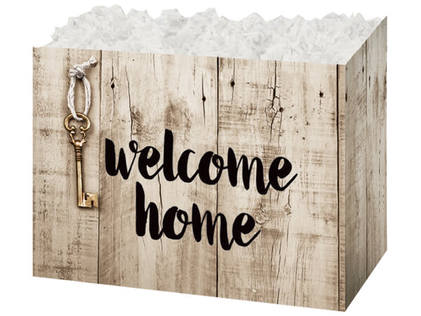 "Rustic Welcome Home Basket Boxes, Large 10.25x6x7.5"", 6 Pack"