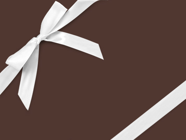 "Chocolate  18"" x 417' Half Ream Roll Gift Wrap"
