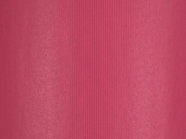 """Groove Stripe Pink Wrapping Paper 24"""" x 417', Half Ream Roll"""
