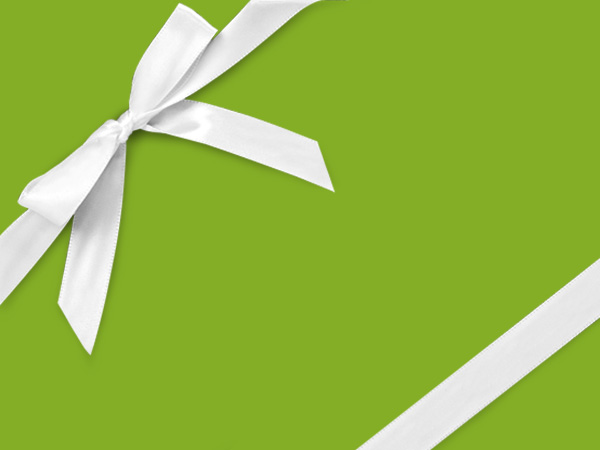 "Bright Green  30"" x 833' Full Ream Roll Gift Wrap"