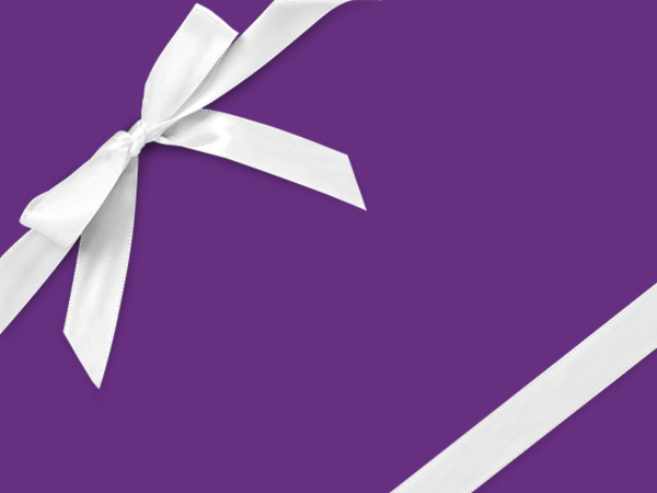 "Royal Purple  26"" x 833' Full Ream Roll Gift Wrap"