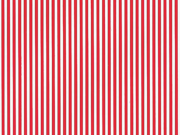 """Red Stripes Wrapping Paper 24"""" x 833', Full Ream Roll"""