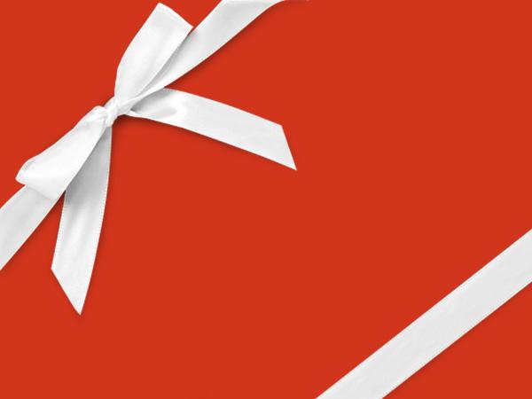 """Orange Velvet  26"""" x 833' Full Ream Roll Gift Wrap"""