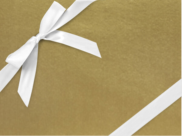 """Antique Gold Kraft Wrapping Paper 30"""" x 417', Half Ream Roll"""